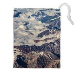 Andes Mountains Aerial View, Chile Drawstring Pouch (2xl)