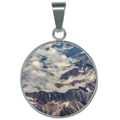 Andes Mountains Aerial View, Chile 25mm Round Necklace