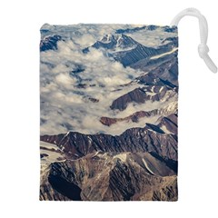 Andes Mountains Aerial View, Chile Drawstring Pouch (5xl)