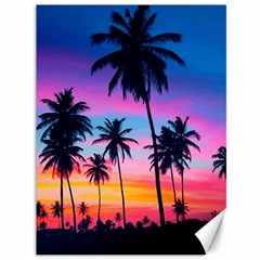 Sunset Palms Canvas 36  X 48  by goljakoff