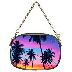 Sunset Palms Chain Purse (two Sides) by goljakoff