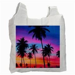 Sunset Palms Recycle Bag (two Side) by goljakoff