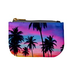 Sunset Palms Mini Coin Purse by goljakoff