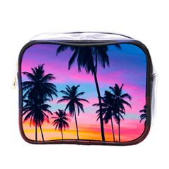 Sunset Palms Mini Toiletries Bag (one Side) by goljakoff
