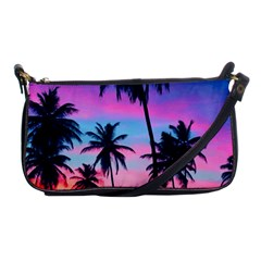 Sunset Palms Shoulder Clutch Bag by goljakoff