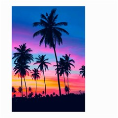 Sunset Palms Small Garden Flag (two Sides) by goljakoff