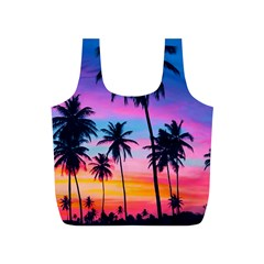 Sunset Palms Full Print Recycle Bag (s) by goljakoff