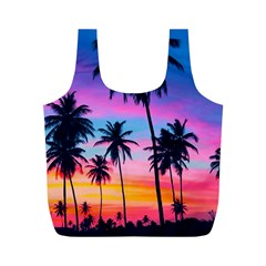 Sunset Palms Full Print Recycle Bag (m) by goljakoff