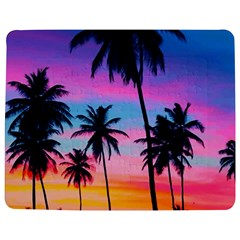 Sunset Palms Jigsaw Puzzle Photo Stand (rectangular) by goljakoff