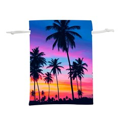 Sunset Palms Lightweight Drawstring Pouch (l) by goljakoff