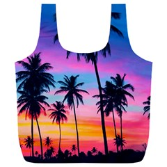 Sunset Palms Full Print Recycle Bag (xxl) by goljakoff