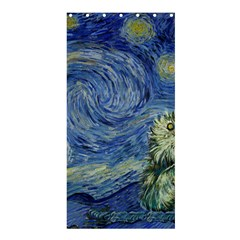 Starry Monterey Night - Sea Otters Shower Curtain 36  X 72  (stall)