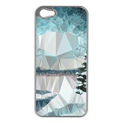 Winter Landscape Low Poly Polygons Iphone 5 Case (silver)
