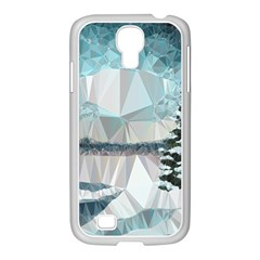 Winter Landscape Low Poly Polygons Samsung Galaxy S4 I9500/ I9505 Case (white)