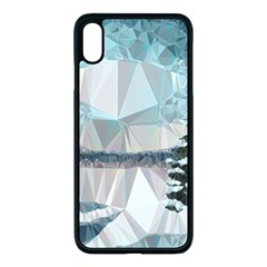 Winter Landscape Low Poly Polygons Iphone Xs Max Seamless Case (black)