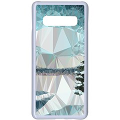 Winter Landscape Low Poly Polygons Samsung Galaxy S10 Plus Seamless Case(white)