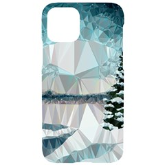 Winter Landscape Low Poly Polygons Iphone 11 Pro Black Uv Print Case