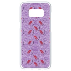 Tropical Flower Forest Of Ornate Colors Samsung Galaxy S8 White Seamless Case by pepitasart
