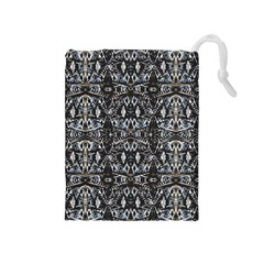 Modern Tribal Geometric Print Drawstring Pouch (medium) by dflcprintsclothing
