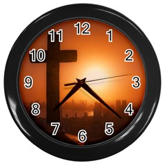 Cartagena De Indias Colombia, Aerial View Wall Clock (black)