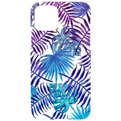 Blue Tropical Leaves Iphone 11 Pro Black Uv Print Case