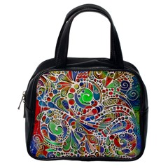 Pop Art - Spirals World 1 Classic Handbag (one Side) by EDDArt