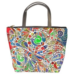 Pop Art - Spirals World 1 Bucket Bag by EDDArt