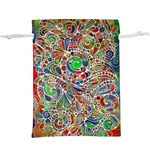 Pop Art - Spirals World 1  Lightweight Drawstring Pouch (XL) Back