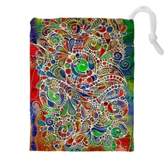Pop Art - Spirals World 1 Drawstring Pouch (5xl) by EDDArt