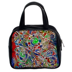 Pop Art - Spirals World 1 Classic Handbag (two Sides) by EDDArt