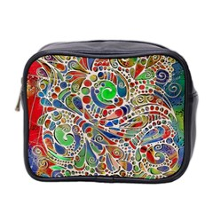 Pop Art - Spirals World 1 Mini Toiletries Bag (two Sides) by EDDArt