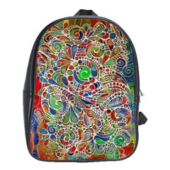 Pop Art - Spirals World 1 School Bag (xl) by EDDArt