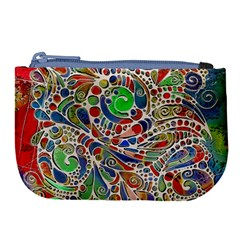 Pop Art - Spirals World 1 Large Coin Purse by EDDArt