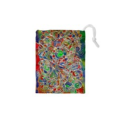 Pop Art - Spirals World 1 Drawstring Pouch (xs)