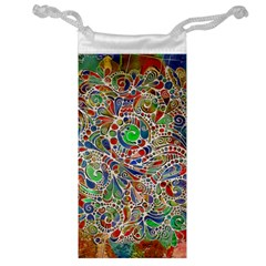 Pop Art - Spirals World 1 Jewelry Bag by EDDArt