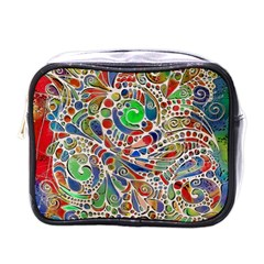 Pop Art - Spirals World 1 Mini Toiletries Bag (one Side) by EDDArt