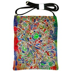 Pop Art - Spirals World 1 Shoulder Sling Bag