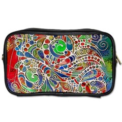 Pop Art - Spirals World 1 Toiletries Bag (two Sides) by EDDArt