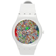 Pop Art - Spirals World 1 Round Plastic Sport Watch (m)