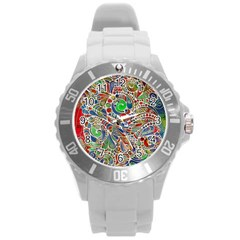 Pop Art - Spirals World 1 Round Plastic Sport Watch (l)