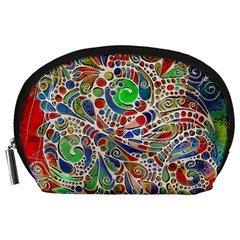 Pop Art - Spirals World 1 Accessory Pouch (large) by EDDArt
