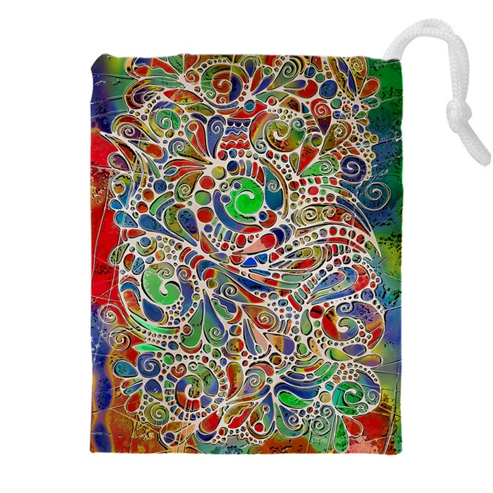 Pop Art - Spirals World 1 Drawstring Pouch (4XL)