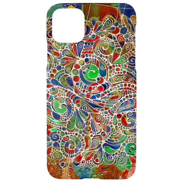 Pop Art - Spirals World 1 iPhone 11 Pro Max Black UV Print Case