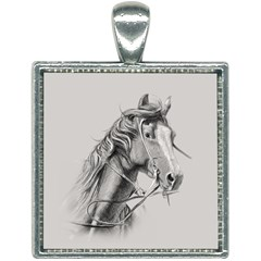 Custom Horse Square Necklace by HermanTelo