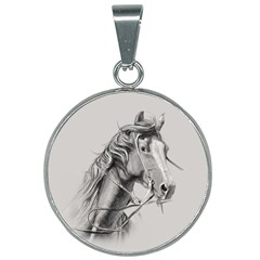 Custom Horse 25mm Round Necklace