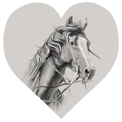Custom Horse Wooden Puzzle Heart