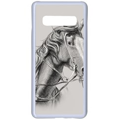 Custom Horse Samsung Galaxy S10 Plus Seamless Case(white)