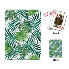 Green Tropical Leaves Playing Cards Single Design (rectangle)