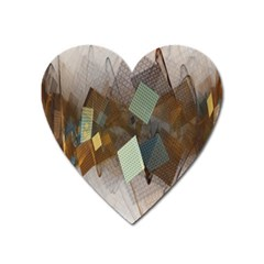 Geometry Diamond Heart Magnet by Sparkle