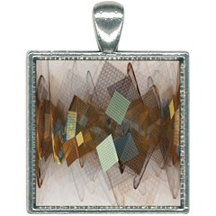Digital Geometry Square Necklace